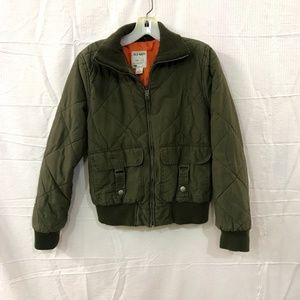 Old Navy Quilted Collared Green Jacket